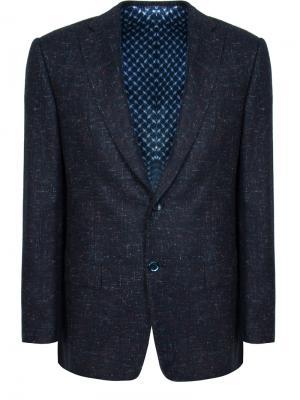 Кашемировый пиджак Zilli. Цвет: синий