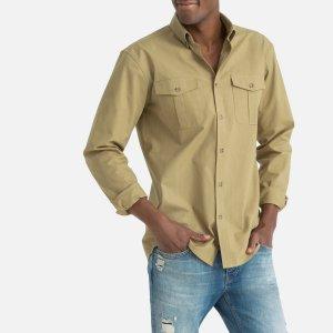 Рубашка La Redoute. Цвет: зеленый