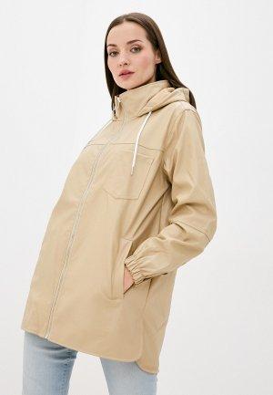 Куртка кожаная DeFacto. Цвет: бежевый