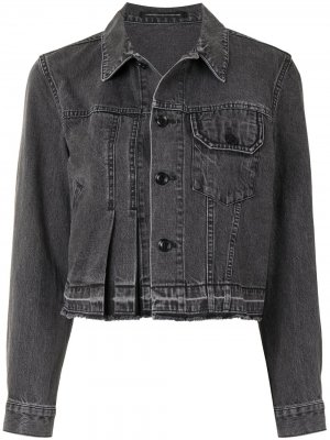 Ys джинсовая куртка на пуговицах Y's. Цвет: серый