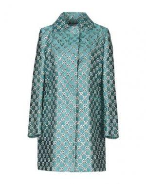 Легкое пальто MANUELA CONTI. Цвет: бирюзовый