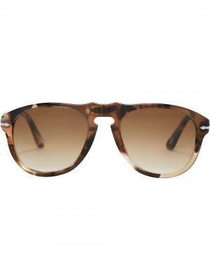 Солнцезащитные очки-авиаторы JW Anderson. Цвет: коричневый