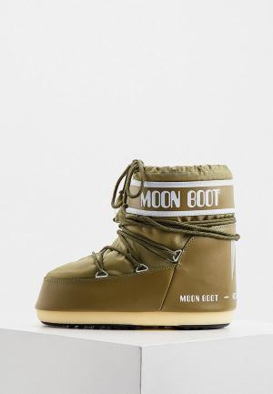 Луноходы Moon Boot. Цвет: хаки