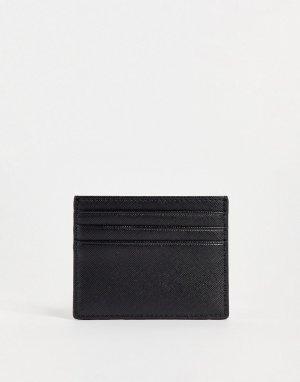 Черная кредитница с покрытием -Черный цвет Carhartt WIP
