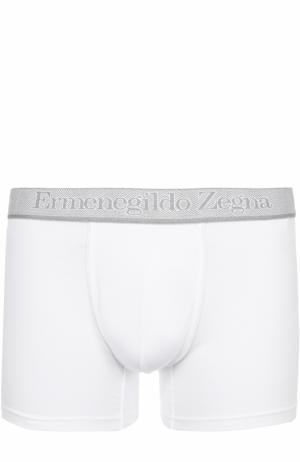 Комплект из двух хлопковых боксеров с широкой резинкой Ermenegildo Zegna. Цвет: белый