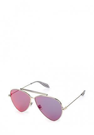Очки солнцезащитные Alexander McQueen AM0058S004. Цвет: серебряный