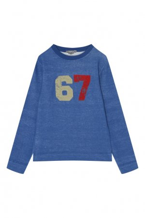Голубой пуловер Bonpoint. Цвет: синий