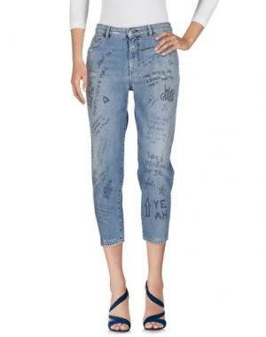 Джинсовые брюки-капри NINE:INTHE:MORNING. Цвет: синий
