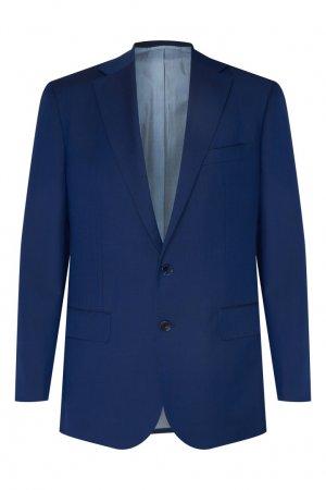 Синий брючный костюм Stefano Ricci. Цвет: синий