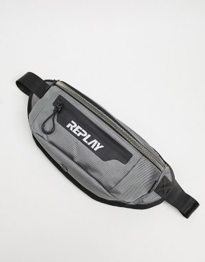 Зеленая сумка-кошелек на пояс -Зеленый цвет Replay