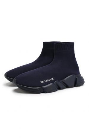 Текстильные кроссовки Speed Balenciaga. Цвет: темно-синий