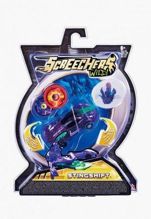 Игрушка Росмэн Дикие Скричеры. Машинка-трансформер Стингшифт л1 ТМ Screechers Wild. Цвет: фиолетовый