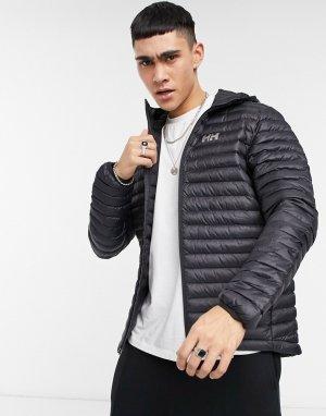 Черная утепленная куртка с капюшоном Sirdal-Черный цвет Helly Hansen