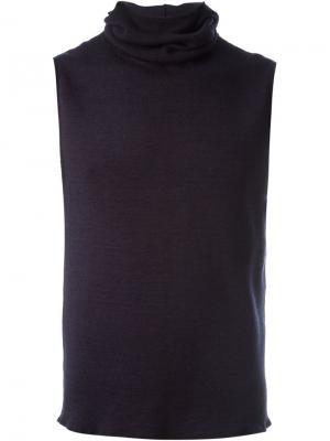 Трикотажный жилет с капюшоном Engineered Garments. Цвет: синий