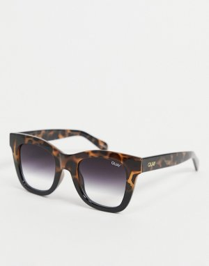 Женские коричневые солнцезащитные очки мини с фильтрацией синего света Quay After Hours-Коричневый цвет Australia