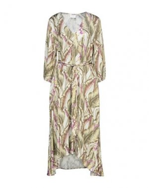 Платье до колена GESTUZ. Цвет: слоновая кость