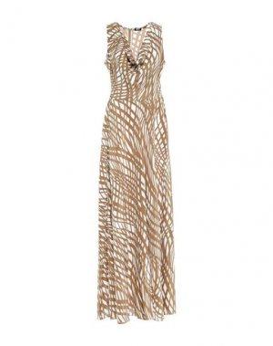 Длинное платье ASPESI. Цвет: хаки