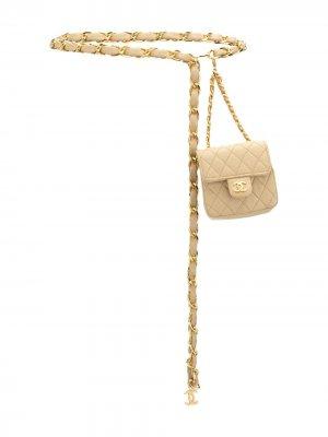 Стеганая поясная сумка 1990-х годов Chanel Pre-Owned. Цвет: коричневый