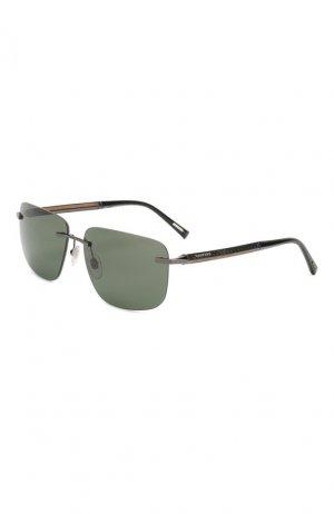 Солнцезащитные очки Chopard. Цвет: темно-зеленый