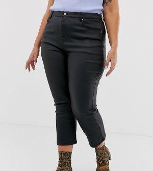 Укороченные расклешенные джинсы с покрытием -Черный Urban Bliss Plus