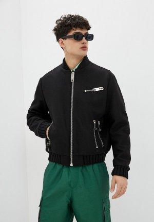 Куртка утепленная Les Hommes Urban. Цвет: черный