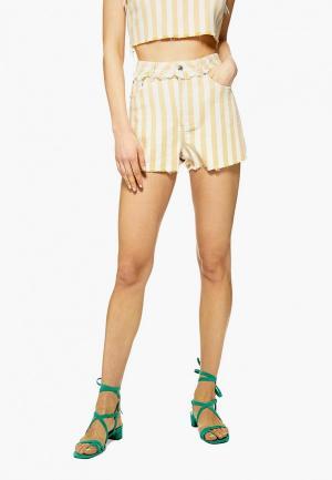 Шорты джинсовые Topshop. Цвет: желтый