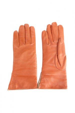 Перчатки Gilda Tonelli. Цвет: оранжевый