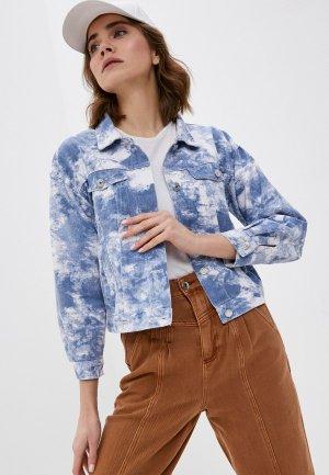 Куртка джинсовая Fadas. Цвет: синий