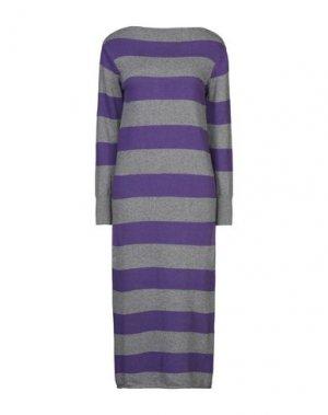 Платье длиной 3/4 SANDRO FERRONE. Цвет: фиолетовый