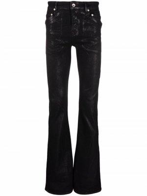 Расклешенные джинсы скинни Rick Owens DRKSHDW. Цвет: черный