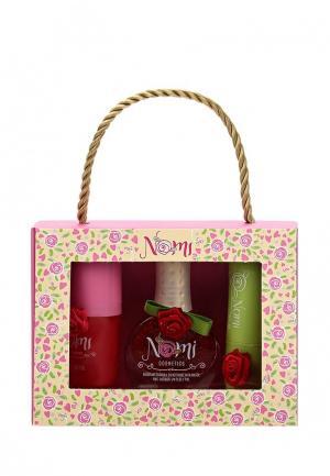 Набор косметики Nomi Лак для ногтей №03 + Блеск губ «Клубничное варенье» Бальзам. Цвет: красный