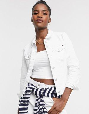 Классическая белая джинсовая куртка -Белый Tommy Hilfiger