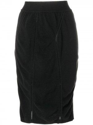 Короткая юбка-карандаш с драпировкой Alaïa Pre-Owned. Цвет: черный