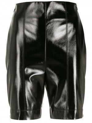 Байкерские шорты Gloria Coelho. Цвет: черный