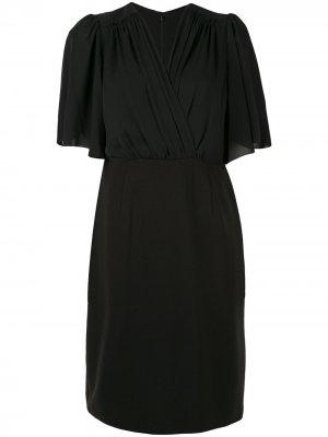 Платье Tavara с запахом Elie Tahari. Цвет: черный