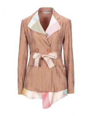 Пиджак LABORATORIO. Цвет: ржаво-коричневый