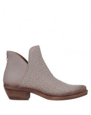 Полусапоги и высокие ботинки FELMINI. Цвет: голубиный серый