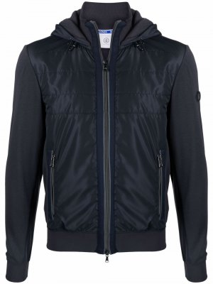 Куртка с капюшоном и контрастными вставками Bogner. Цвет: синий