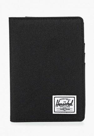 Обложка для паспорта Herschel Supply Co Raynor Passport Holder RFID. Цвет: черный