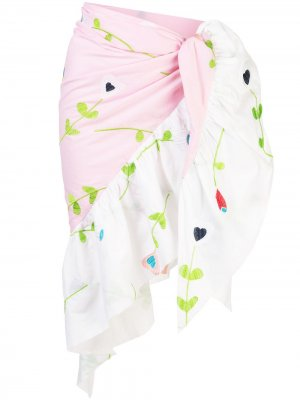 Marea embroidered sarong Cynthia Rowley. Цвет: розовый