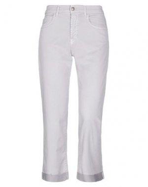 Джинсовые брюки-капри ROŸ ROGER'S. Цвет: голубиный серый