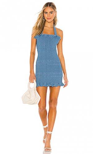 Мини платье linnea Capulet. Цвет: синий