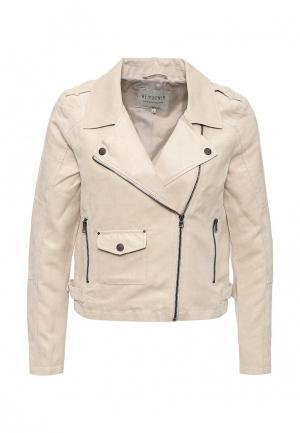 Куртка кожаная Tom Tailor Denim. Цвет: бежевый