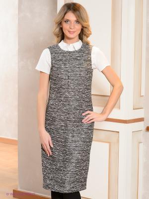Платье Elegance. Цвет: черный, серый
