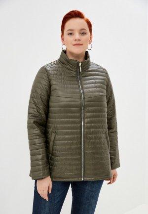 Куртка утепленная Очаровательная Адель. Цвет: хаки