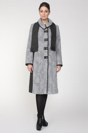 Пальто Amulet. Цвет: серый