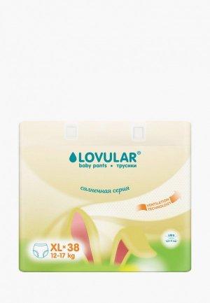 Подгузники-трусики Lovular Солнечная серия, XL 12-17 кг, 38 шт./уп.. Цвет: желтый