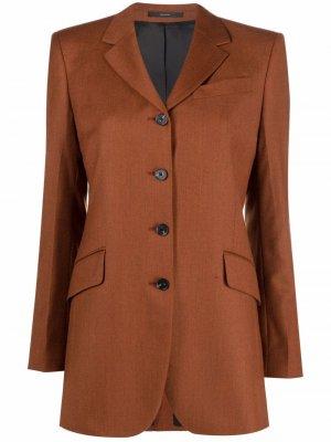Single-breasted wool blazer PAUL SMITH. Цвет: оранжевый