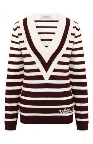 Шерстяной пуловер Valentino. Цвет: красный