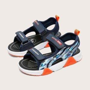 Спортивные сандалии с камуфляжным принтом для мальчиков SHEIN. Цвет: синий
